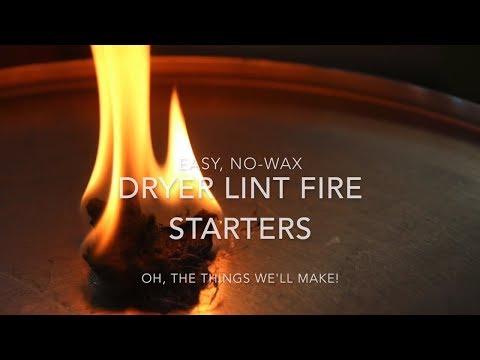 Easy, No-wax Dryer Lint Fire Starters