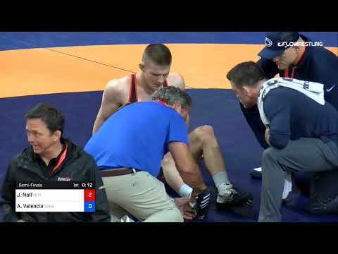 74 Kg Semifinal Jason Nolf Nittany Lion Wrestling Club Vs Anthony Valencia Sunkist Kids Wrestling