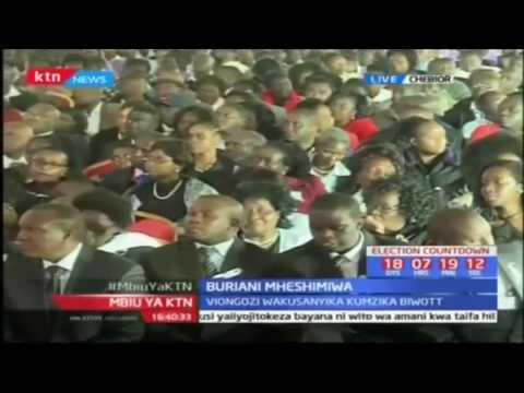 Rais Uhuru Kenyatta atoa maoni yake katika buriani ya mheshimiwa Nicholas Biwott kijijini Cheboir