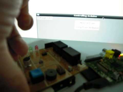 Using GUI on Raspberry Pi to control Arduino