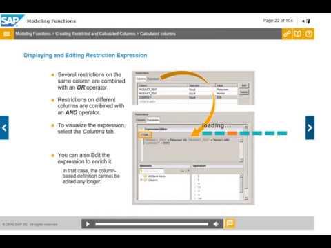 SAP HANA Restricted Calculated Columns