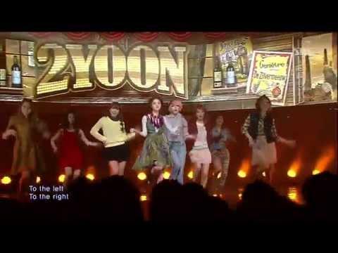2YOON Of 4minute (지윤, 가윤) [Why Not / 24/7] @SBS Inkigayo 인기가요 20130127