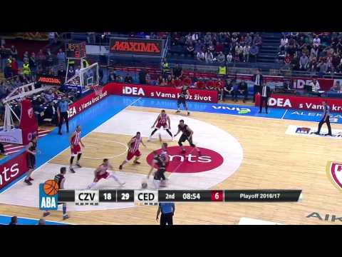 Quick hands by Bjelica lead to easy points for Wolters (Crvena zvezda mts - Cedevita, 10.4.2017)