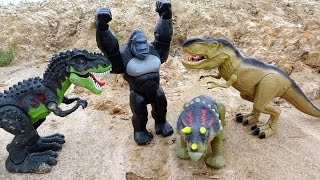 King Kong Dinosaurs Battle Tyrannosaurus Rex! Animal Planet Playset For Kids