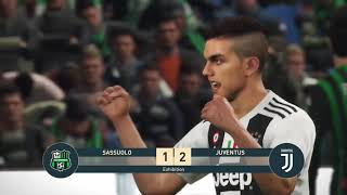 SASSUOLO vs JUVENTUS | SERIE A TIM | Full Match & Amazing Highlights | Gameplay PES 2019