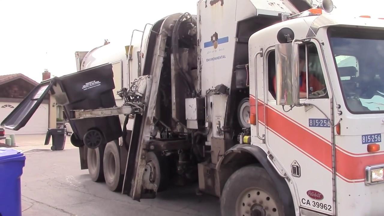Garbage Trucks Of The City Of San Diego Peterbilt 320