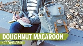 Doughnut Macaroon Size Comparison