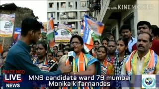 mns candidate ward 79 mumbai monika k farnandes ki soch or vichar peace ngo saddam k sat