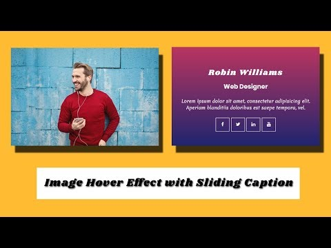 CSS Image Hover Effect with Sliding Caption | CSS image hover effect