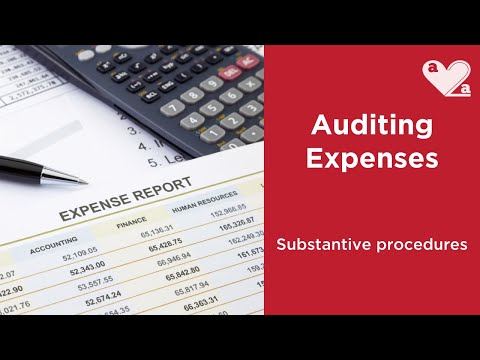 Substantive procedures for auditing EXPENSES