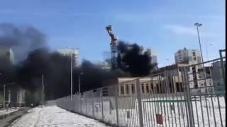 В Академическом районе горит школа (07.04.2017)