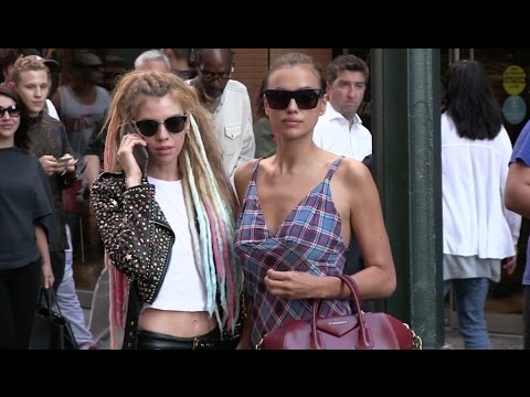 Irina Shayk and Stella Maxwell go to Mc Donald s right after Marc Jacobs Fashion Show