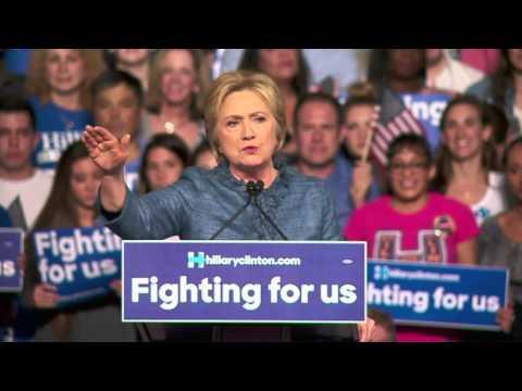 Hillary Clinton rebukes Donald Trump