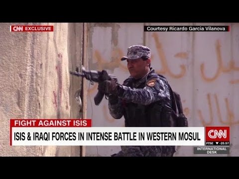 ISIS and Iraqi forces battle for Western Mosul