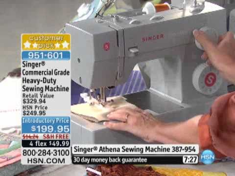Singer Commercial Grade HeavyDuty Sewing Machine YouTube Custom Commercial Grade Sewing Machine