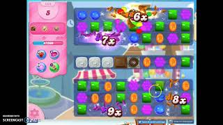 Candy Crush Level 1454, 1 Star 0 Boosters