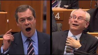 "Nigel Farage insults Herman van Rompuy, calls EU President a ""DAMP RAG"""