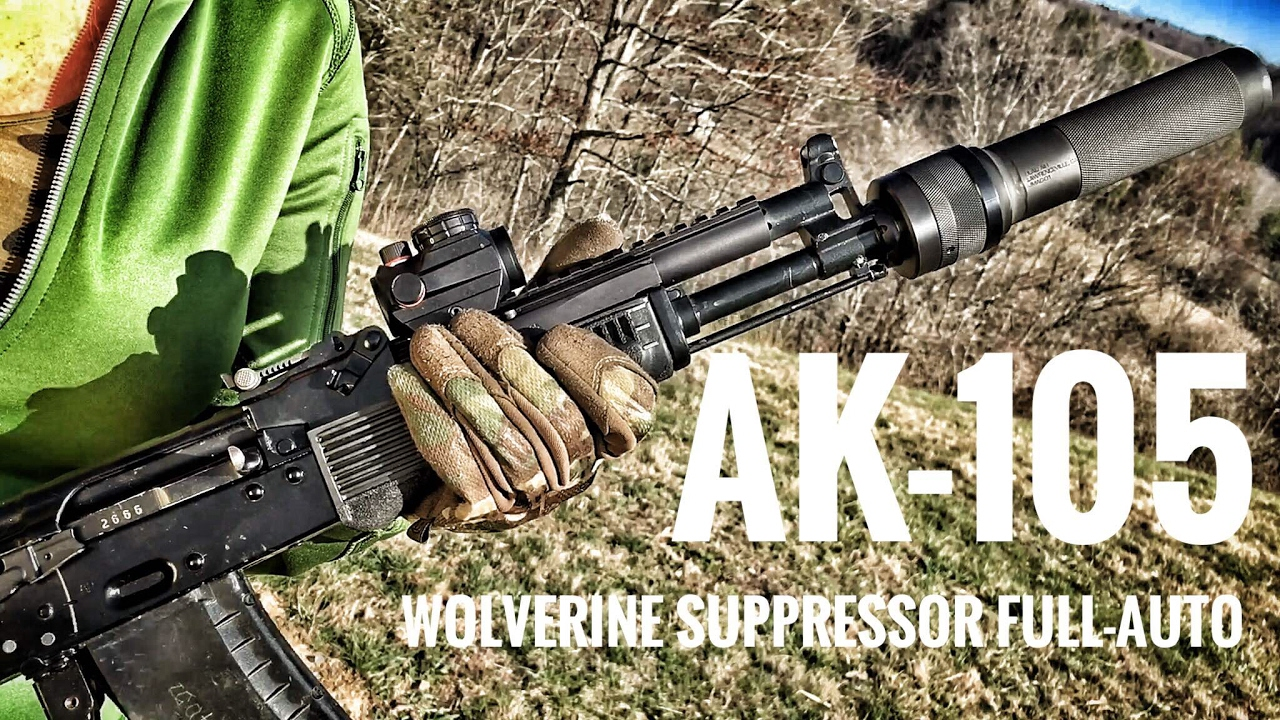 Ak 105 ash shooting the full auto ak105 with the dead air silencers pbs-1