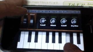 iPhone で YMO を弾いてみた。 NlogFree アプリ使用。