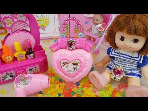 Baby doll Beauty box and hair shop Orbeez toys baby doli play