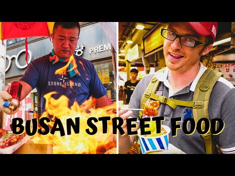 Ultimate KOREAN STREET FOOD Tour in Busan, Korea