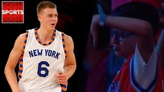 Kristaps Porzingis Gets Revenge On Knicks Fan Who Cried When He Was Drafted