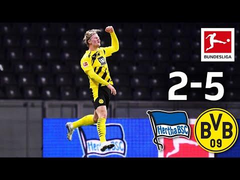 Haaland's Four Goals \u0026 Moukoko Record Debut | Hertha - Dortmund 2-5 | Highlights | MD 8 – Bundesliga