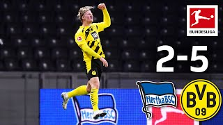 Haaland's four goals & Moukoko record debut | Hertha - Dortmund 2-5 | Highlights | MD 8 – Bundesliga