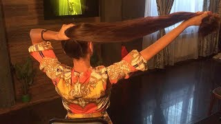 11 Minutes of Mila - Amazing Long Thick Chair Play