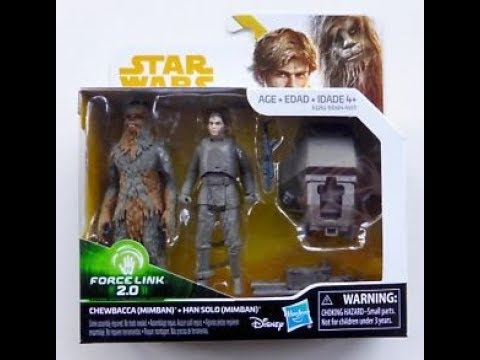 Star Wars Solo 2 Pack Chewbacca /& Han Solo Mimban Disney Force Link 2.0 Figures