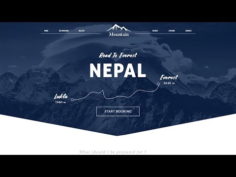 Photoshop Webdesign – Booking Travel Site [ Free PSD]
