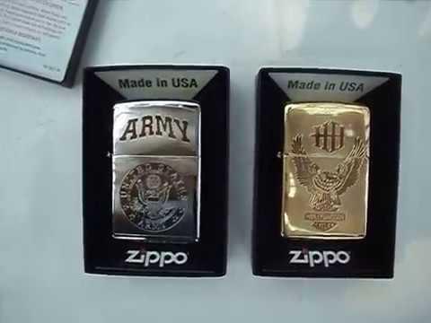 ZIPPO MỸ LOGO Motor HARLEY DAVIDSON Đồng và ARMY _ Quân Đội