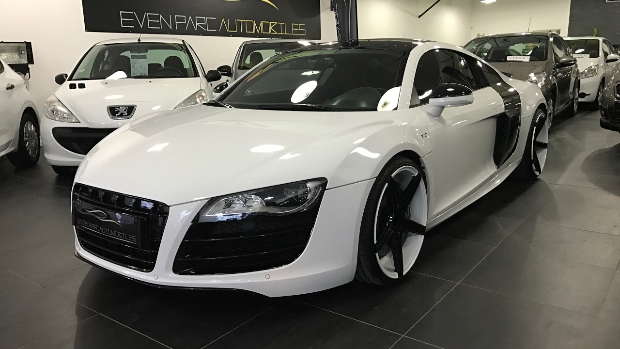even parc automobiles preparation audi r8 v10 akrapovic covering youtube. Black Bedroom Furniture Sets. Home Design Ideas