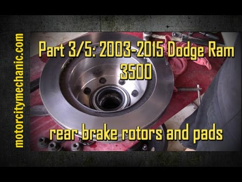 Part 3/5: 2003-2015 Dodge Ram 3500 rear brake rotors and ...