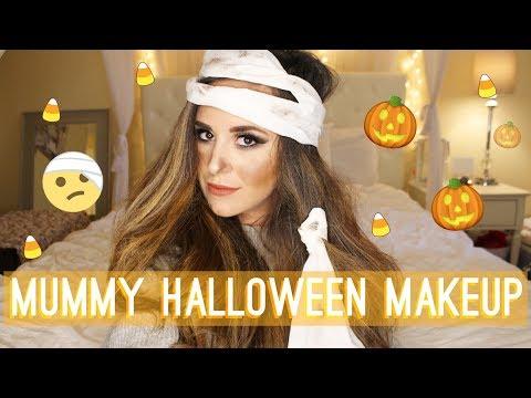 MUMMY - Easy Halloween Makeup Tutorial | LifeOfMeganandLiz thumbnail
