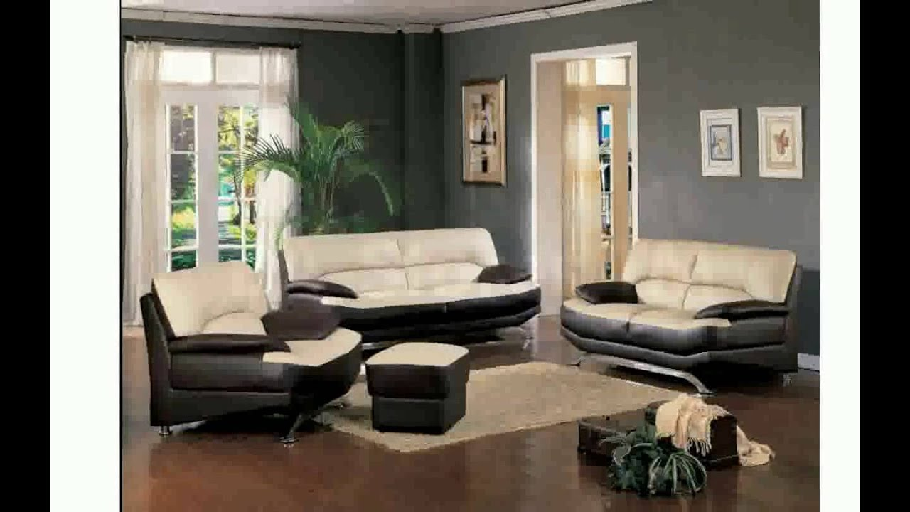 Living Room Decor Ideas With Brown Leather Furniture - YouTube