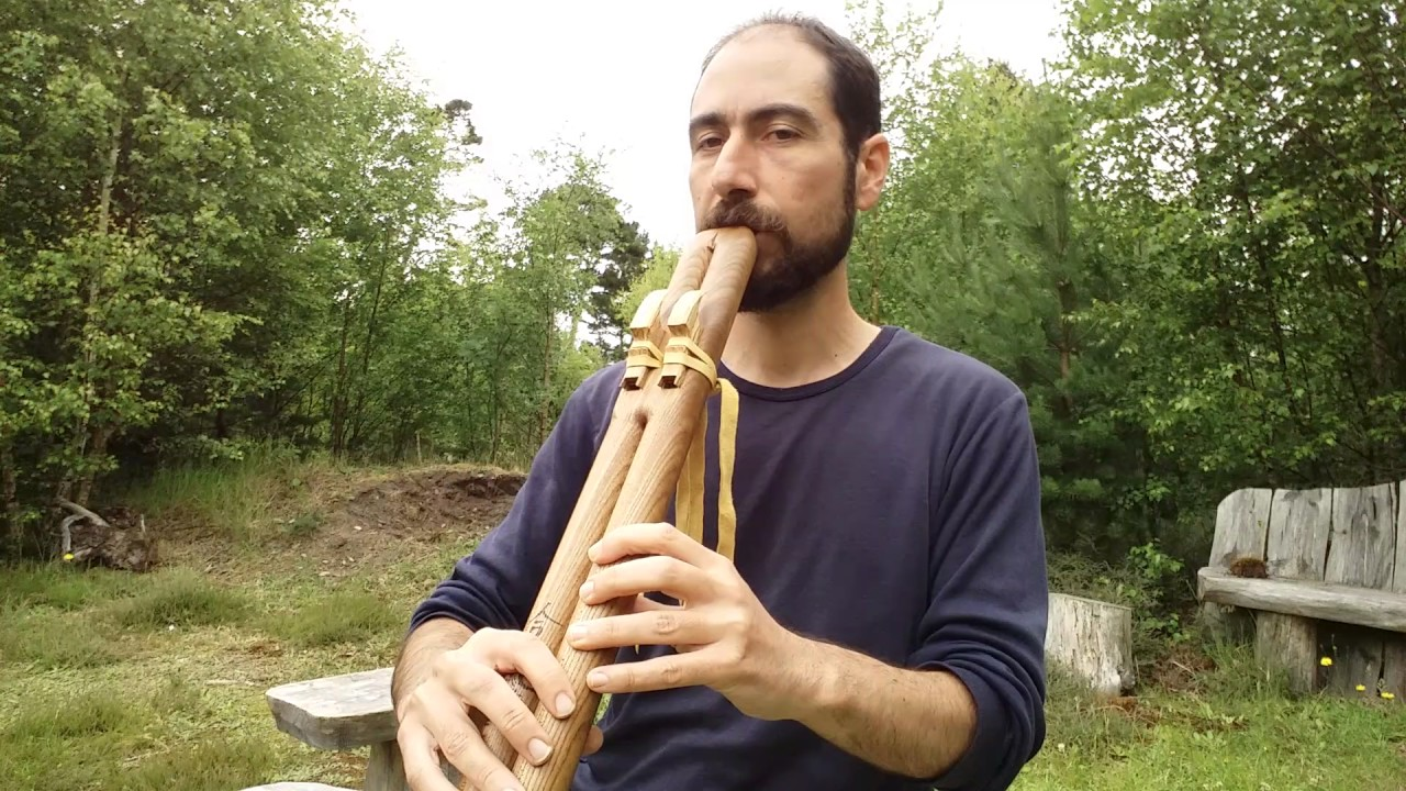 Double bass flute from Elm - YouTube  Double Contrabass Flute Case