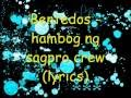 Download Bentedos-hambog ng sagpro crew (lyrics) MP3 song and Music Video