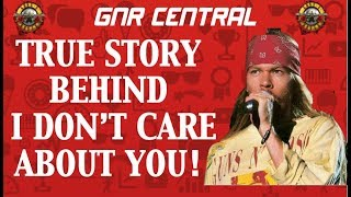 Guns N' Roses: The True Story Behind I Don't Care About You Spaghetti Incident (FEAR)