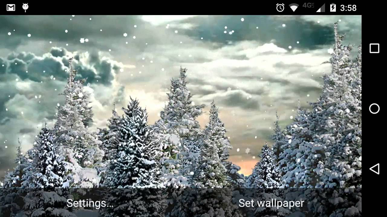 Free Animated Snow Falling Wallpaper Snowfall Live Wallpaper Youtube