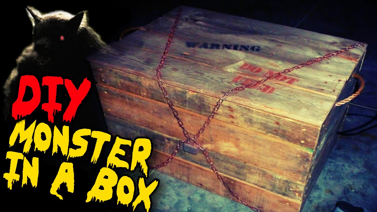 monster in a box diy halloween haunted house prop youtube - Halloween Haunted Places