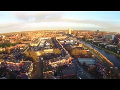 Drone city flight Groningen