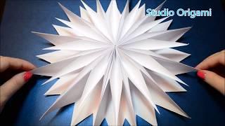 Объемная снежинка из бумаги DIY