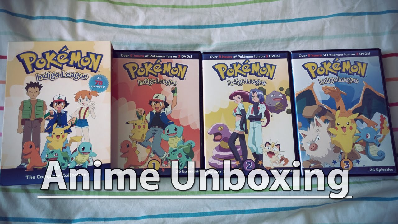 unboxing pokémon season 1 indigo league the complete collection