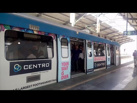 First Day Hyderabad Metro Run From Ameerpet to Secunderabad | Hyderabad Public School View