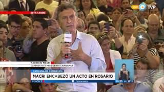 Visión 7 - Macri encabezó un acto en Rosario