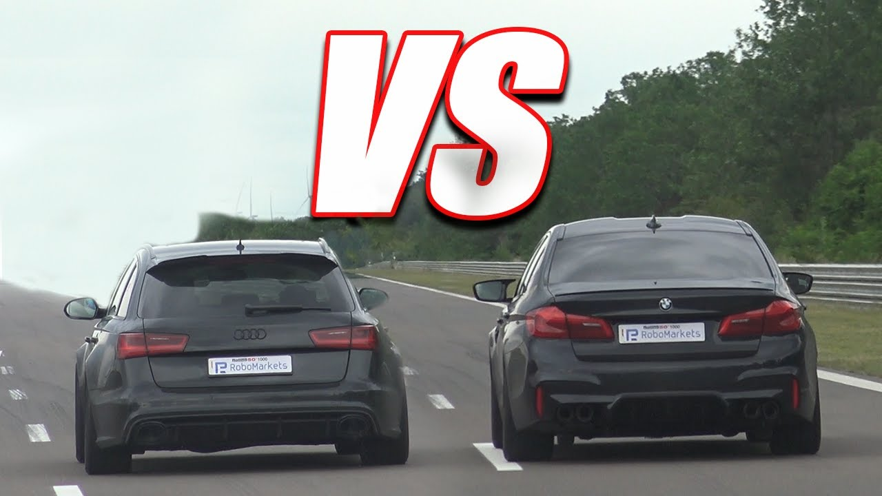 AUDI RS6 vs BMW M5... EXHAUST SOUND!