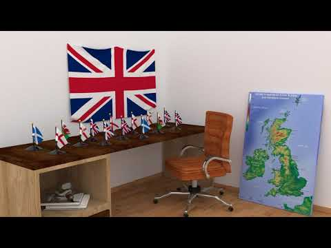 Himno y banderas de Reino Unido | United Kingdom flags and anthem