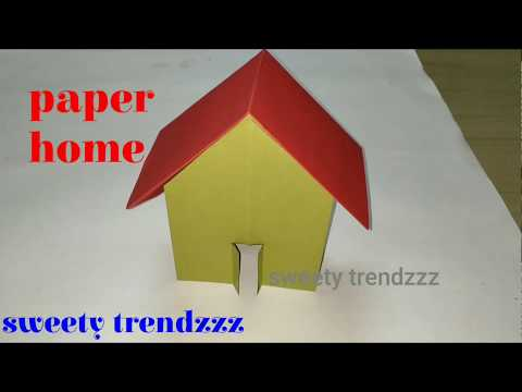 DIY Beautiful Paper House | how to make a attractive paper house | sweety trendzzz