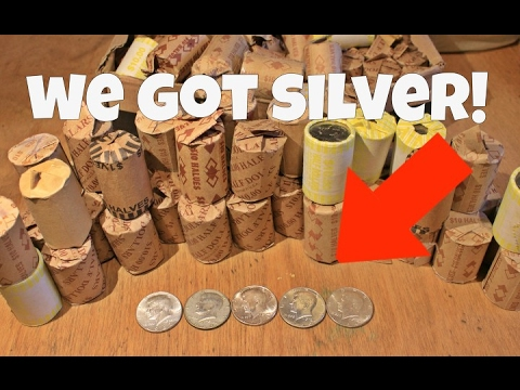SILVER STRIKE!!  | COIN ROLL HUNTING SMALL TOWNS!